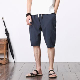 Drawstring Plain Shorts 1060350130