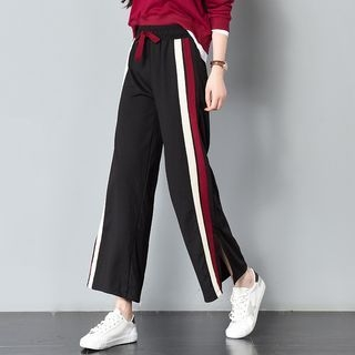 Color Block Wide Leg Pants 1062690604