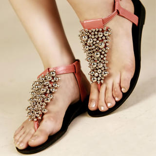 Buy Kvoll Beaded Thong Sandals 1022990421