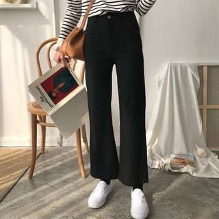 Cropped Boot-Cut Pants 1063486284