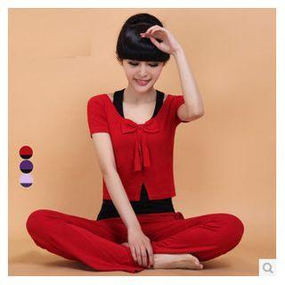 Yoga Set: Top + Pants + Tank Top 1040693593