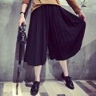 Cropped Pleated Wide Leg Pants 1596