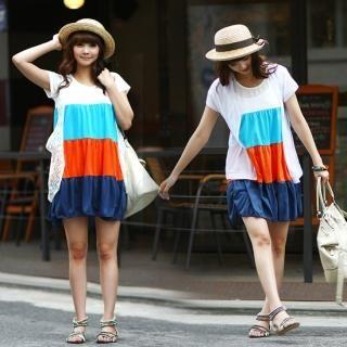 Buy SDKING Multicolor Tiered Dress 1023027658
