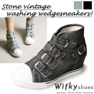 Buy Wifky Buckled Wedge Sneakers 1023028338