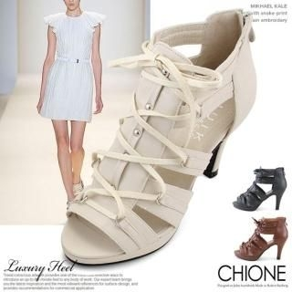 Buy Chione Faux-Leather Sandals 1022554928