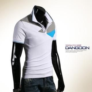 Buy DANGOON Color-Block Polo Shirt 1022879580