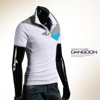 Picture of DANGOON Color-Block Polo Shirt 1022879580 (DANGOON, Mens Tees, South Korea)