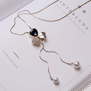 Rhinestone Heart Necklace 1063982718