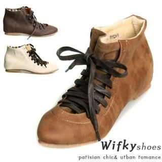Buy Wifky Faux-Leather Lace-Up Ankle Boots 1021487624