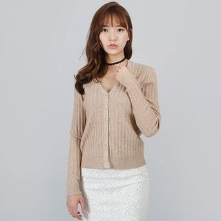 V-Neck Ribbed Cardigan 1059872409