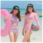 Set: Cropped Rashguard + High Waist Swim Bottom 1596