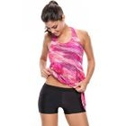 Set: Printed Tankini Top + Swim Shorts 1596