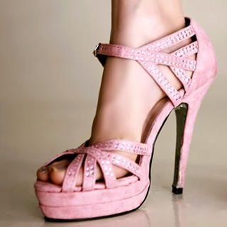 Buy Kvoll Rhinestone Platform Sandals 1022653955