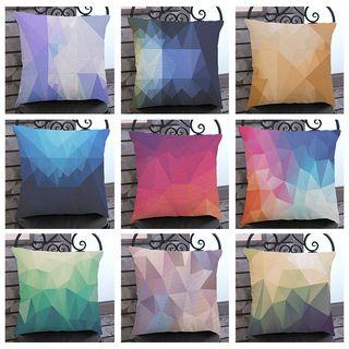 Image of Geometric Print Sofa Cushion Cover