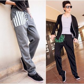 Striped Panel Sweatpants