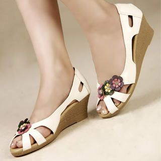 Picture of Kvoll Appliqu  Wedge Sandals 1023009501 (Sandals, Kvoll Shoes, China Shoes, Womens Shoes, Womens Sandals)