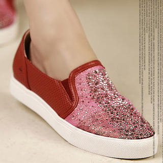 Picture of Kvoll Rhinestone Slip-Ons 1023009703 (Slip-On Shoes, Kvoll Shoes, China Shoes, Womens Shoes, Womens Slip-On Shoes)