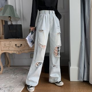 Distressed | High-waist | Jean