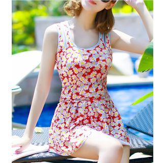 Set: Print Swimdress + Swim Bottom 1051475124