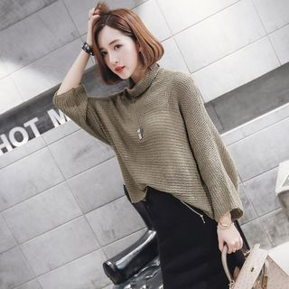 Ribbed Knit Turtle Neck Sweater 1053343709