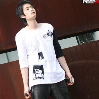 Buy Peeps 2 Tone Long Tee Shirt 1004963794