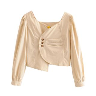 Image of Asymmetric Cropped Blouse