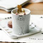 Ceramic Cat Cup 1596