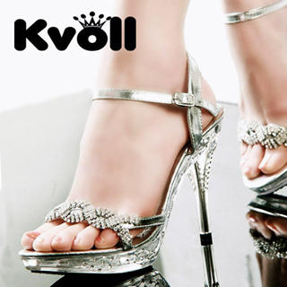 Buy Kvoll Rhinestone Platform Sandals 1022512373
