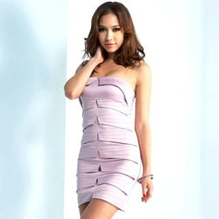 Buy Joanne Kitten Strapless Bandage Satin Party Dress 1022740412