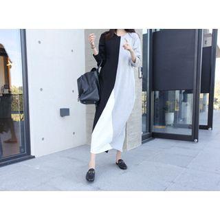 Color-Block Slit-Back Maxi Dress 1052890542