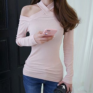 Halter Long-Sleeve T-Shirt 1050633998