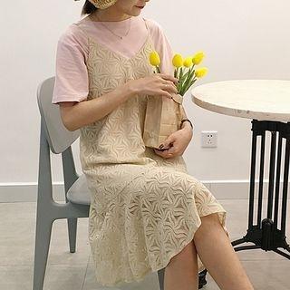 Spaghetti Strap Lace Dress 1058429643