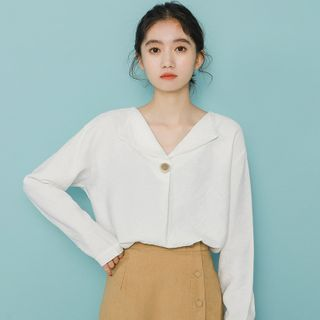 Image of Lapel Long-Sleeve Shirt