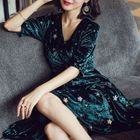 Star Sequined Long Sleeve Dress 1596