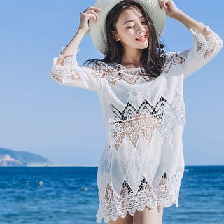 Crochet Lace Cover-Up 1058428279