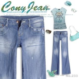 Picture of Bluemint Washed Boot-cut Jeans 1005049093 (Womens Boot-Cut Pants, Bluemint Pants, South Korea Pants)