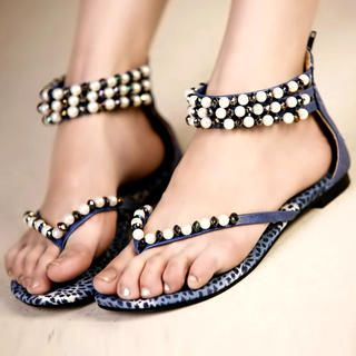 Buy Kvoll Beaded Thong Sandals 1022979487