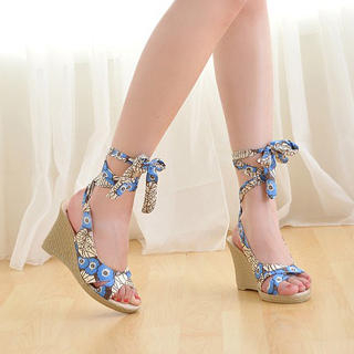 Buy KAWO Floral-Strap Wedges 1022892970