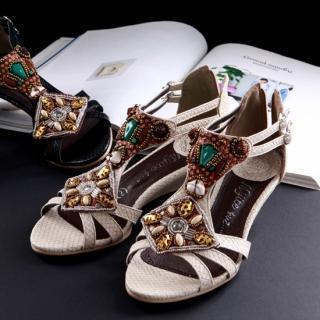 Buy Sunbijou Beaded Sandals 1022920702