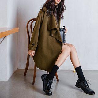 Image of Asymmetric Wool Jacket