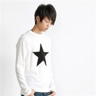 Picture of SERUSH Star Pattern Print Tee 1021967065 (SERUSH, Mens Denim, Taiwan)