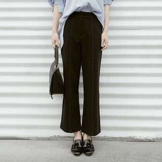 Boot-Cut Stitched Pants 1058277135