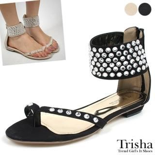 Buy Trisha Jeweled Ankle Strap Thong Sandals 1022870681