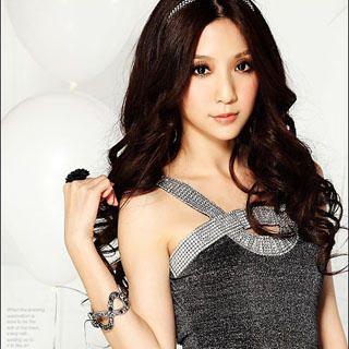 Buy Tian Mu Rhinestone Detail Sleeveless Dress 1022903547
