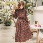 Floral Chiffon Maxi Dress 1596