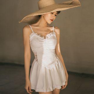 Image of Strappy Lace Swim Dress