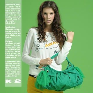 Buy K*facto.2y Tulle-Side Satchel Green-One Size 1020377103