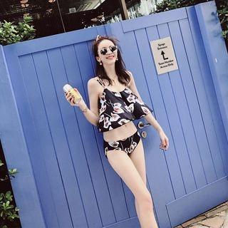 Set: Floral Print Tankini + Swim Shorts 1060611498