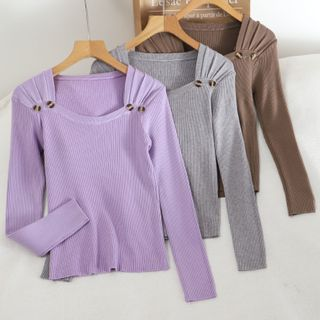 Long-sleeve | Square | Neck | Top