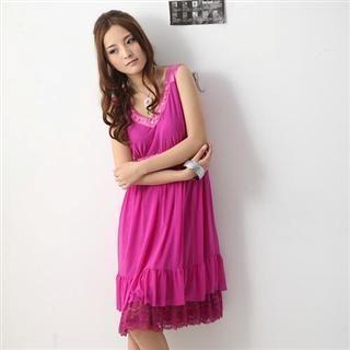 Buy Tracy Jeweled Lace Hem Empire Dress 1022393251